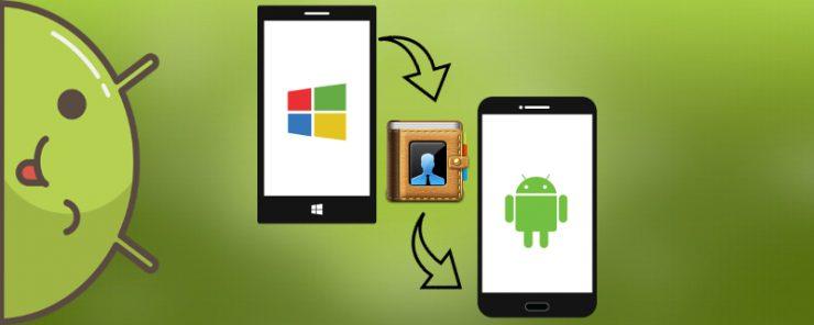 Как перенести контакты с Виндовс Фон на Андроид
