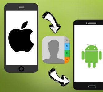 Как перенести контакты с iPhone на Android